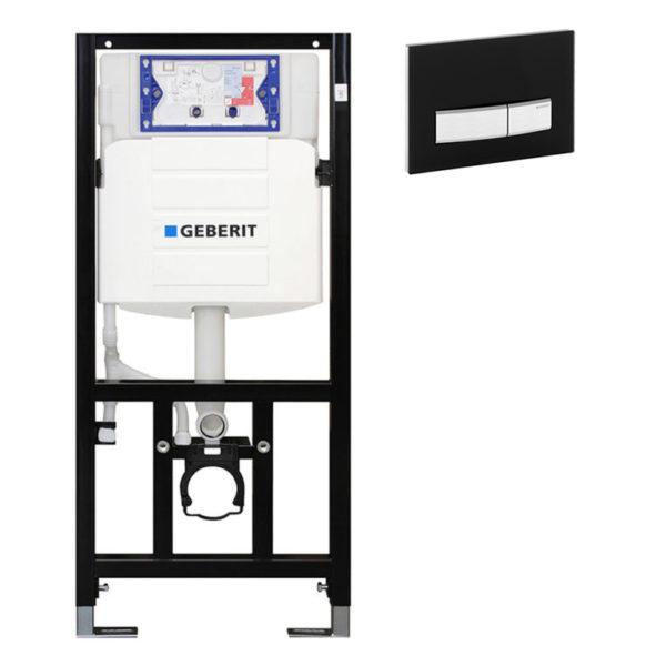 SANwand WC-Element mit Geberit UP-Spülkasten Sigma + Betätigungsplatte Sigma50