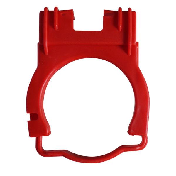 WC-Ablaufschelle komplett, rot für Nassbau WC-Elemente