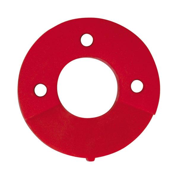 Dämpfungsscheibe für die Befestigung von Wandscheiben ABS Backplate Mounting Pad - Red