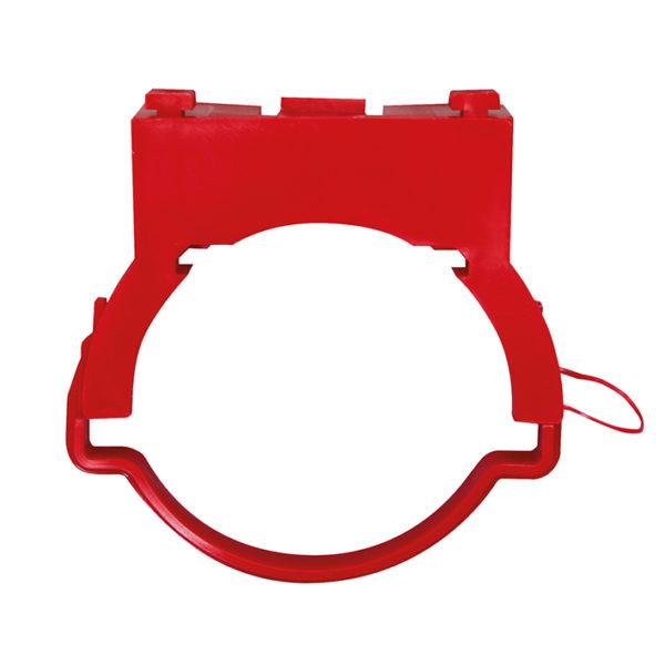WC-Ablaufschelle komplett, für Trockenbau WC-Elemente (rot)