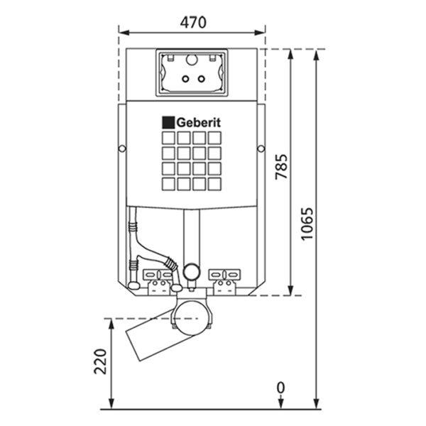WC-Vorwandelement für den Nassausbau mit Geberit UP-Spülkasten Sigma, zum Einmauern
