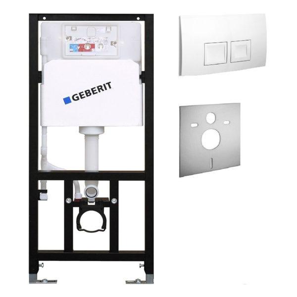 SANwand WC-Element mit Geberit UP-Spülkasten Delta + Betätigungsplatte Delta50 + Schallschutzmatte
