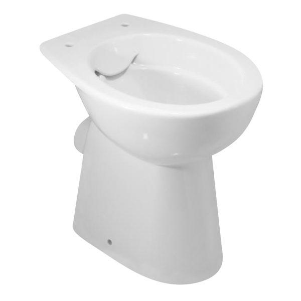 Stand-WC, 6 cm erhöht, spülrandlos + WC-Sitz