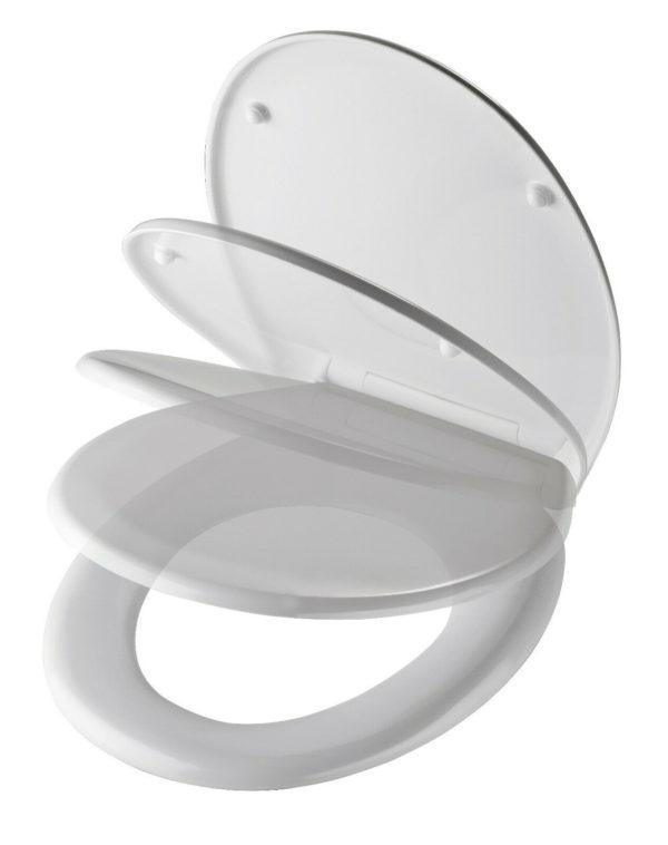 WC-Vorwandelement für den Nassbau mit Geberit UP-SPK Delta + Wand WC Ceravid + WC-Sitz + Betätigungsplatte Delta 50, weiß + Schallschutzmatte