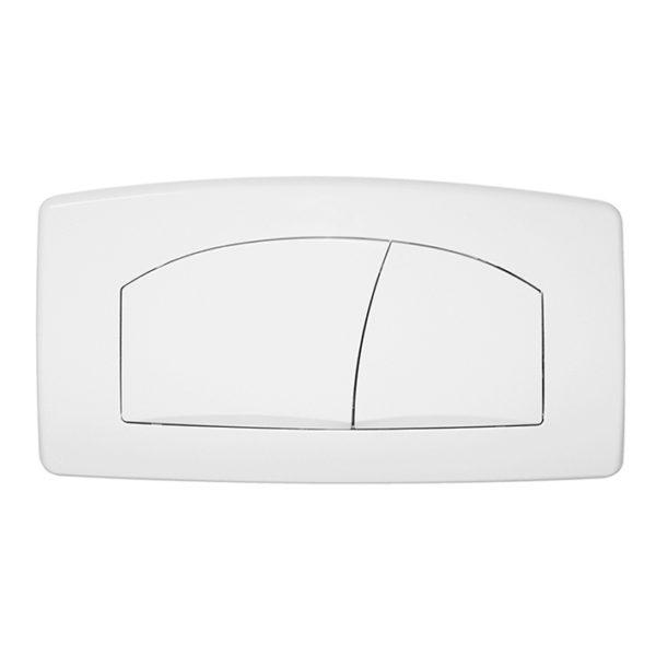 Betätigungsplatte T901, weiß, 2-Mengen Spülung für UP-Spülkasten K609