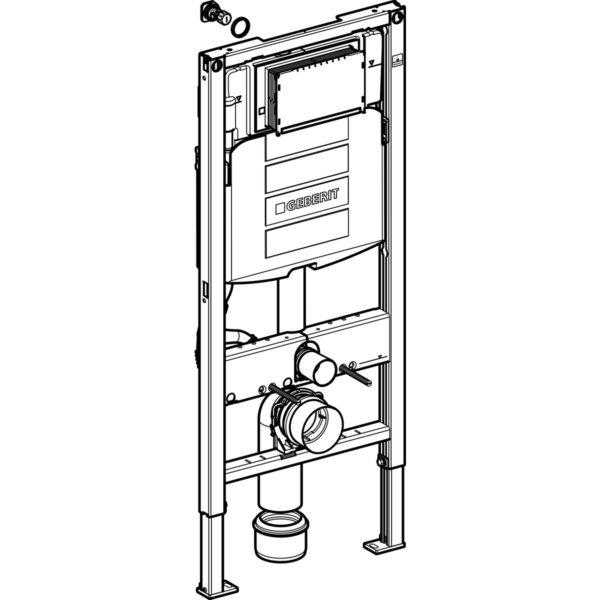 Geberit Duofix Element für Wand-WC, 112 cm, mit Sigma UP-Spülkasten