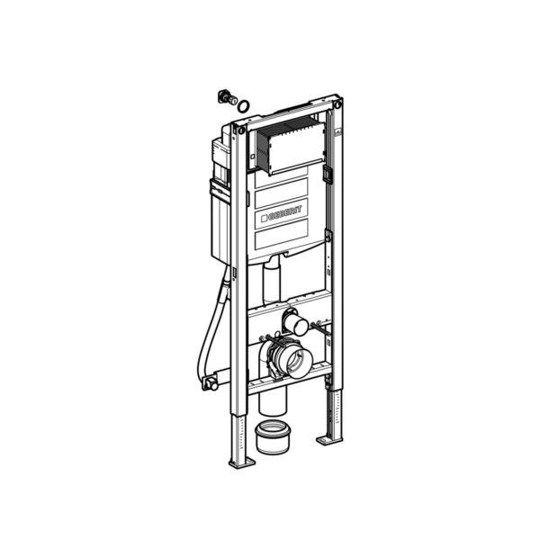 Geberit Duofix Element für Wand-WC, 112 cm, 42,5 cm breit, mit Sigma UP-Spülkasten, barrierefrei