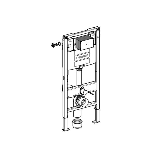 Geberit Duofix Element für Wand-WC, 112 cm, mit Omega UP-Spülkasten
