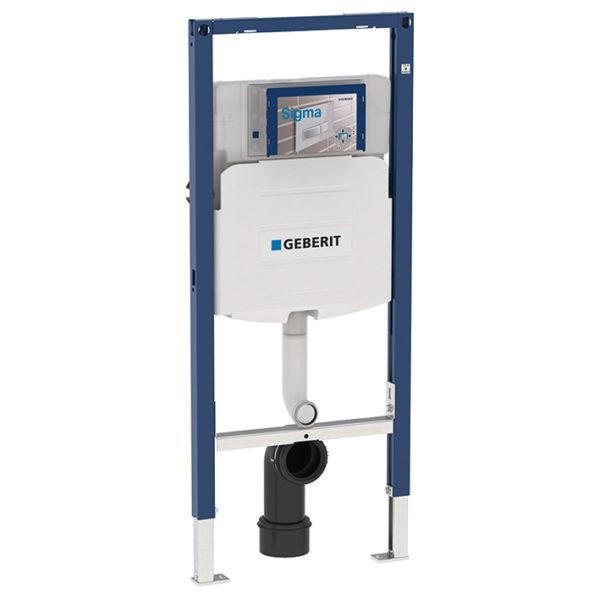 Geberit Duofix Element für Kinder- und Kleinkinder-Stand-WC, 112 cm, mit Sigma UP-Spülkasten