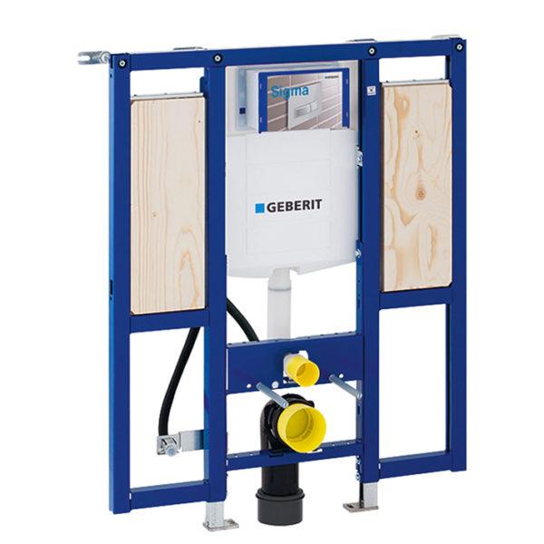 Geberit Duofix Element für Wand-WC, 112 cm, mit Sigma UP-Spülkasten, barrierefrei, für Stütz- und Haltegriffe