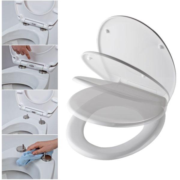 SANwand WC-Element, <br>41 cm breit mit Fresh System + Wand WC + WC-Sitz + Betätigungsplatte + Schallschutzmatte