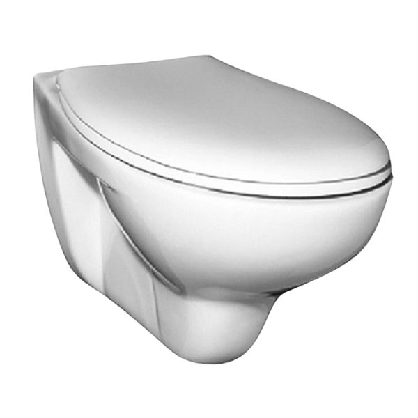 WC-Vorwandelement <br>für den Nassbau mit Geberit UP-SPK Sigma + Betätigungsplatte<br>Sigma01, weiß + Wand WC Ceravid + WC-Sitz + Schallschutzmatte
