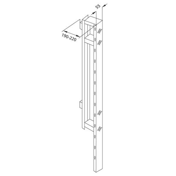 Santro Zwischenträger für Ablagentiefe <br>190-220 mm