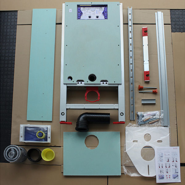 Santro Vorwandelement WC, vorbeplankt <br>mit Geberit <br>UP-Spülkasten Sigma