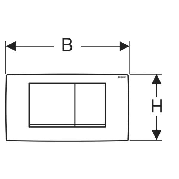 Betätigungsplatte Twinline30, 2-Mengen Spülung für UP-Spülkasten Twinline