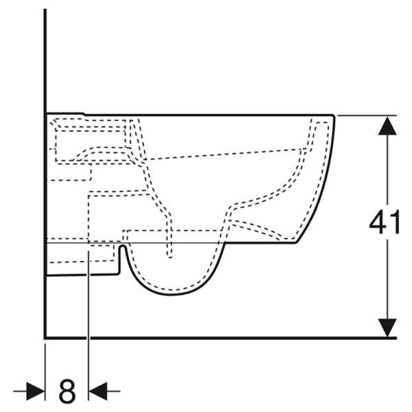Geberit iCon Tiefspüler Rimfree WC-Set komplett inkl. Sanwand WC Vorwandelement mit <br>UP-Spülkasten Sigma <br>+ Betätigungstaste <br>Sigma 20