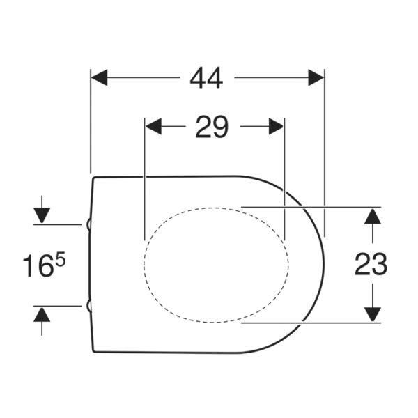 Geberit iCon Tiefspüler Rimfree WC-Set komplett  mit UP-Spülkasten Delta