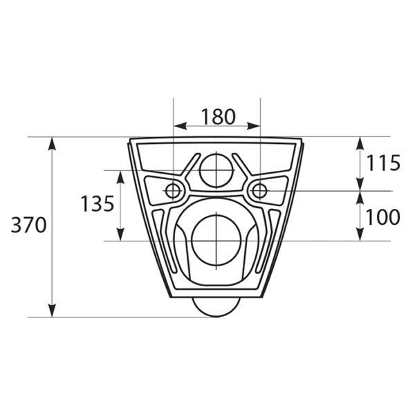 SANwand WC-Element, <br>41 cm breit mit Fresh System + Wand WC spülrandlos + WC-Sitz City + Betätigungsplatte + Schallschutzmatte