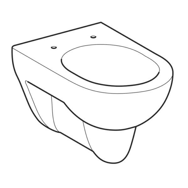 Geberit Renova Tiefspüler WC-Set komplett inkl. Sanwand WC Vorwandelement mit <br>UP-Spülkasten Delta <br>+ Betätigungstaste <br>Delta50
