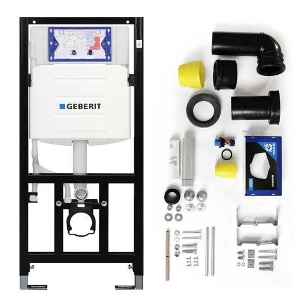 """Cersanit spülrandloses Wand WC-Set komplett inkl. Sanwand WC-Element mit UP-SPK Sigma + WC-Sitz """"City""""<br>+ Betätigungsplatte Sigma20 <br>+ Schallschutzmatte"""