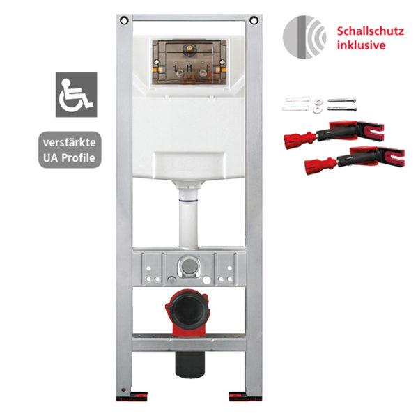 Burda Montageelement WC mit Burda UP-Spülkasten K770, 42 cm breit, barrierefrei