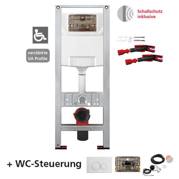 Burda Montageelement WC mit Burda UP-Spülkasten K770, <br>42 cm breit, barrierefrei <br>+ WC-Steuerung