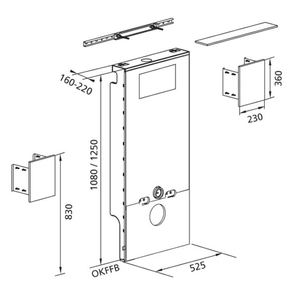 Santro Anbauset für Stütz- und Stützklappgriffe