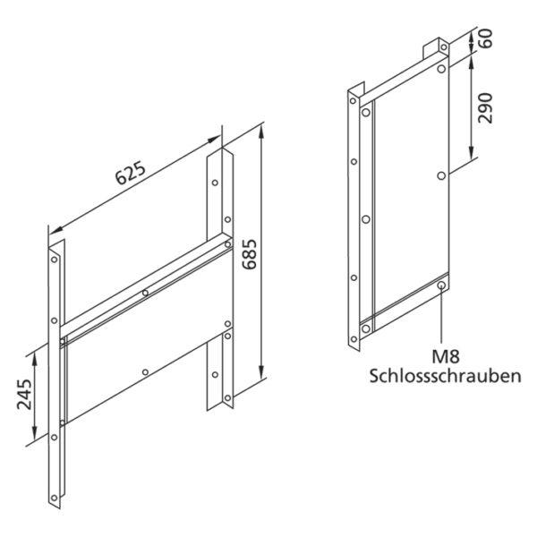 Universal Befestigungsplatteplatte aus Schichtholz, <br>30 mm dick